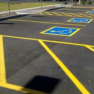 pavement marking parking lots