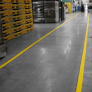 line painting in industrial facilites such as warehouses