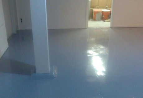 Commercial Epoxy Coating Project for Lost & Found