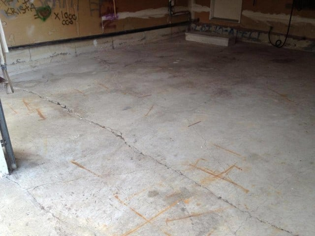 concrete garage slab replacement