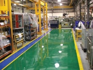 epoxy floor coating for industrial use