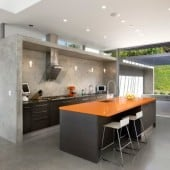 polished concrete kitchen