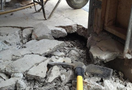Concrete Slab Replacement in Garage