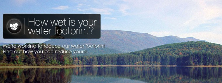 reduce your water footprint